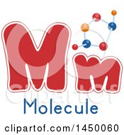 Clipart Graphic Of A Lower And Upper Case Letter M With A Molecular Model Royalty Free Vector Illustration