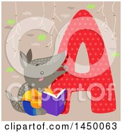 Cute Armadillo With The Letter A