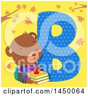 Cute Bear With The Letter B