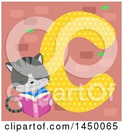 Clipart Graphic Of A Cute Cat With The Letter C Royalty Free Vector Illustration by BNP Design Studio
