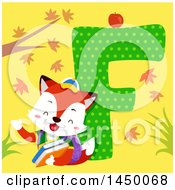 Clipart Graphic Of A Cute Fox With The Letter F Royalty Free Vector Illustration by BNP Design Studio