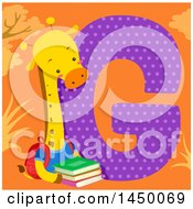Cute Giraffe With The Letter G