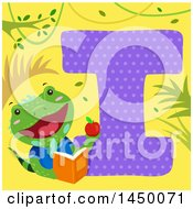 Cute Iguana With The Letter I