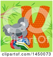 Cute Koala With The Letter K