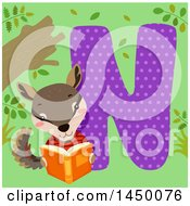 Cute Numbat With The Letter N