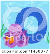 Cute Octopus With The Letter O