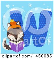 Clipart Graphic Of A Cute Wolf With The Letter W Royalty Free Vector Illustration by BNP Design Studio