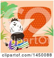 Clipart Graphic Of A Cute Zebra With The Letter Z Royalty Free Vector Illustration by BNP Design Studio