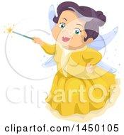 Happy Senior White Fairy Godmother Holding A Magic Wand