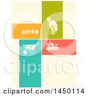 Clipart Graphic Of A Seed A Wheelbarrow A Gardening Plot And Some Vegetables Design Royalty Free Vector Illustration