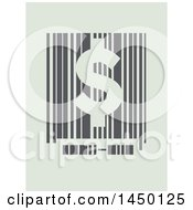 Clipart Graphic Of A Barcode With A Usd Dollar Sign On Pastel Green Royalty Free Vector Illustration by BNP Design Studio