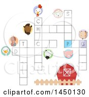 Clipart Graphic Of A Farm Animal Crossword Puzzle Royalty Free Vector Illustration by BNP Design Studio