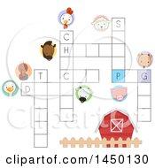 Poster, Art Print Of Farm Animal Crossword Puzzle
