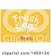 Clipart Graphic Of A Nest Under Fress Eggs Text On Yellow Royalty Free Vector Illustration by BNP Design Studio