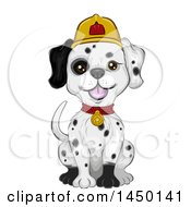 Clipart Graphic Of A Cute Dalmation Fire House Dog Sitting Royalty Free Vector Illustration by BNP Design Studio