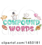 Clipart Graphic Of Compound Words Text Design With Examples Of Them Royalty Free Vector Illustration by BNP Design Studio