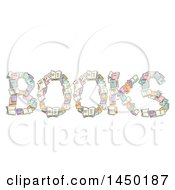 Clipart Graphic Of A Sketched Word Books Formed Of Literature Royalty Free Vector Illustration by BNP Design Studio