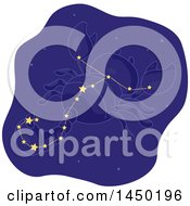 Clipart Graphic Of A Scorpion Star Constellation Royalty Free Vector Illustration