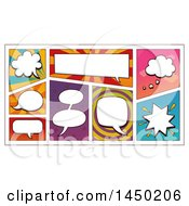 Clipart Graphic Of Comic Design Element Speech Bubbles Royalty Free Vector Illustration