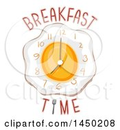 Wall Clock Of An Egg With Breakfast Time Text