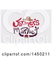 Clipart Graphic Of A Farmers Market Word Design On Off White Royalty Free Vector Illustration by BNP Design Studio