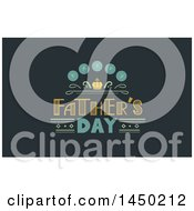 Clipart Graphic Of A Happy Fathers Day Text Design On Dark Green Royalty Free Vector Illustration