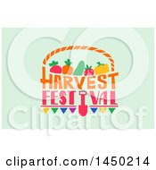 Harvest Festival Text Design On Pastel Green