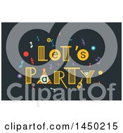 Clipart Graphic Of A Lets Party And Confetti Design Royalty Free Vector Illustration