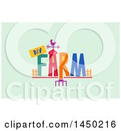 Clipart Graphic Of A My Farm Word Design On Pastel Green Royalty Free Vector Illustration by BNP Design Studio