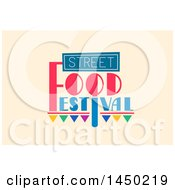 Clipart Graphic Of A Street Food Festival Text Design On Beige Royalty Free Vector Illustration