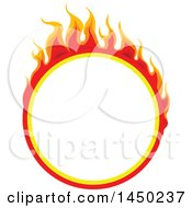 Round Fiery Hot Flaming Flame Design Element