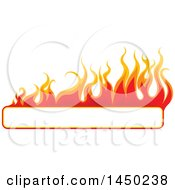Fiery Hot Flaming Flame Banner Design Element
