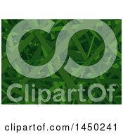 Clipart Graphic Of A Green Grass Or Stripes Texture Royalty Free Vector Illustration by dero