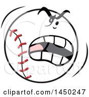 Cartoon Angry Baseball Mascot