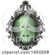 Face In An Ornate Magic Mirror