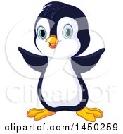 Clipart Graphic Of A Cute Adorable Baby Animal Penguin Royalty Free Vector Illustration