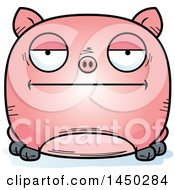 Cartoon Bored Pig Character Mascot