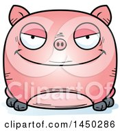 Cartoon Evil Pig Character Mascot