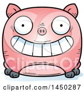 Cartoon Grinning Pig Character Mascot