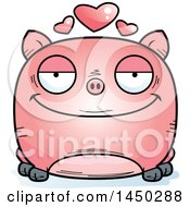 Cartoon Loving Pig Character Mascot