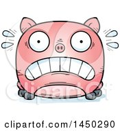 Cartoon Scared Pig Character Mascot