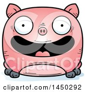 Clipart Graphic Of A Cartoon Happy Pig Character Mascot Royalty Free Vector Illustration