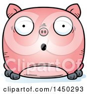 Cartoon Surprised Pig Character Mascot