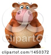 Clipart Graphic Of A 3d Brown Cow Character On A White Background Royalty Free Illustration
