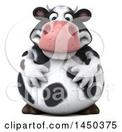 Clipart Graphic Of A 3d Holstein Cow Character On A White Background Royalty Free Illustration