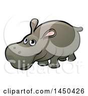 Clipart Graphic Of A Cartoon Happy Hippo Royalty Free Vector Illustration by AtStockIllustration