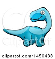Cartoon Blue Apatosaurus Dino