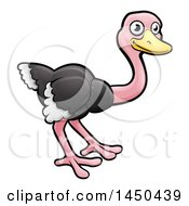 Cartoon Happy Ostrich
