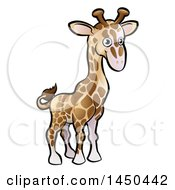 Clipart Graphic Of A Cartoon Giraffe Royalty Free Vector Illustration by AtStockIllustration