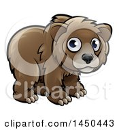 Clipart Graphic Of A Cartoon Bear Cub Royalty Free Vector Illustration
